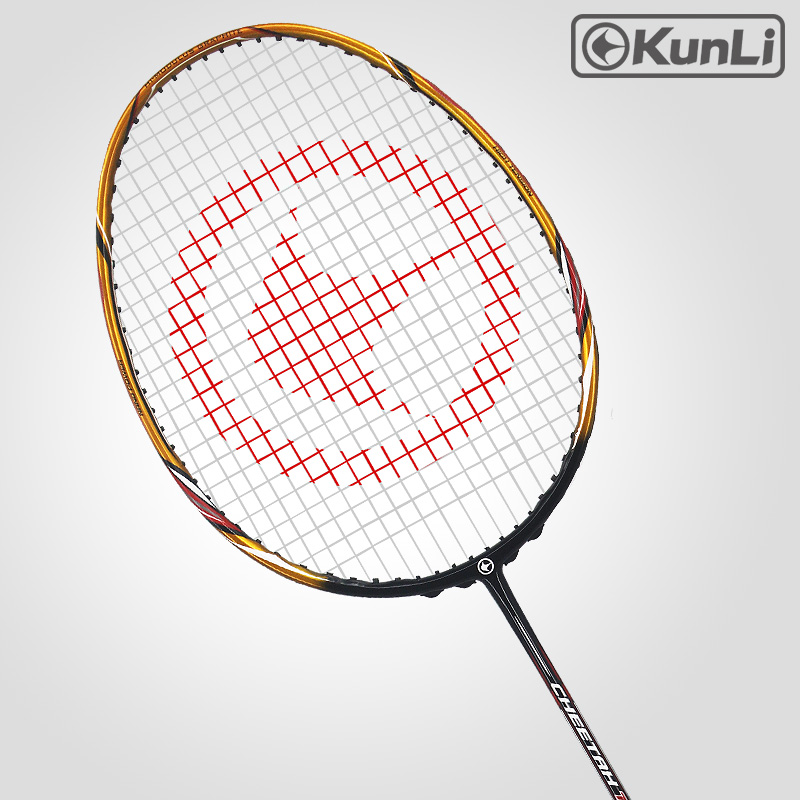 Original KUNLI Official Badminton Racket 4u 82g Cheetah T9 Full Carbon Professional Ultra Light Maxspeed For Doubles Player