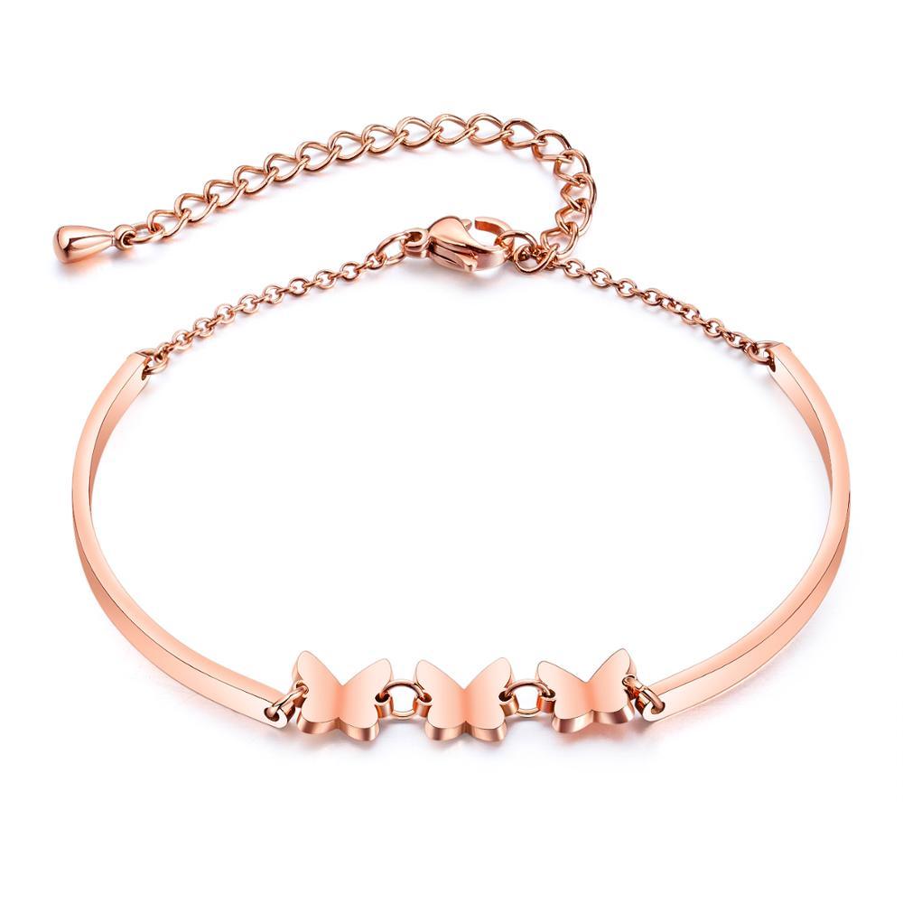 Coreano moda temperamento jóias de borboleta do aço inoxidável Titanium aço Pulseira senhora menina mel nobre acessórios