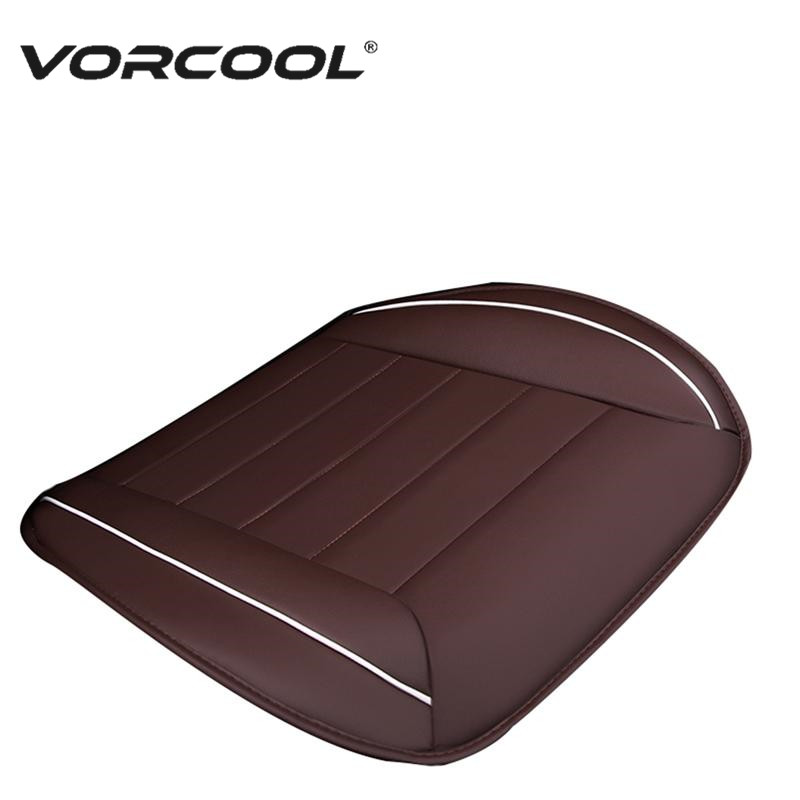 VORCOOL 1Pcs Universal Leather Car Seat Cushion Pad Full Coverage Front Auto Seat Cover Mat for Protection car seat cover truck suv auto universal leather cushion pad mat set for tata aria safari sumo indica nano indigo