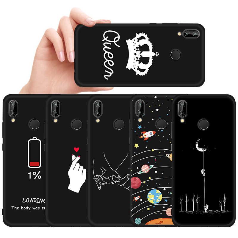 Desen Boyalı TPU Kılıf Için Huawei Onur 10 9 8 Lite 6C Pro 8A 8X Max 8C V20 V9 Oyun sihirli 2 Not 10 Siyah Mat Kapak Çapa