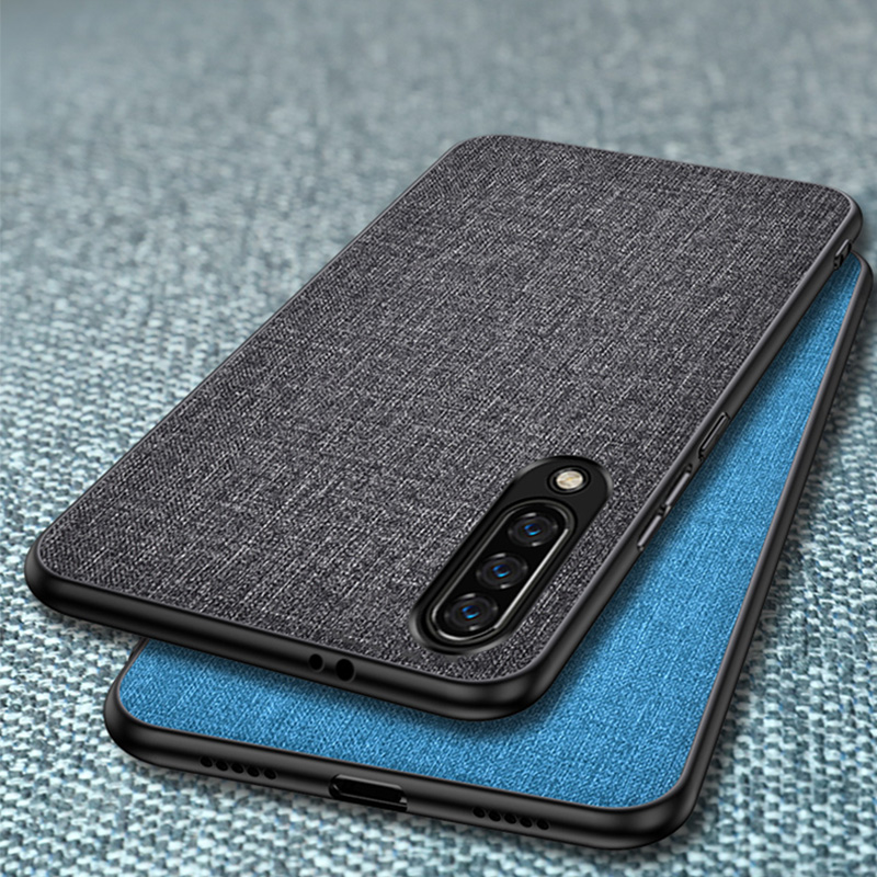 Cloth Texture <font><b>Case</b></font> For <font><b>Samsung</b></font> <font><b>Galaxy</b></font> A90 A80 A70 A60 A50 <font><b>A40</b></font> A30 A10 2019 M30 M20 M10 Retro Classic Color Leather Back <font><b>Cover</b></font> image