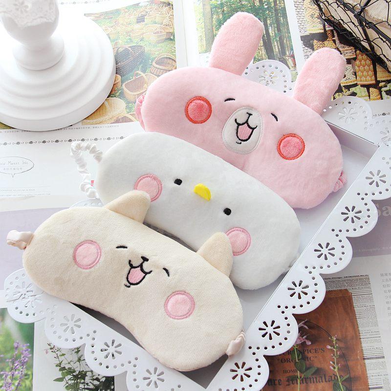 1pc Cartoon Cute Plush Rabbit/Chicken Eye Mask Shade Light Cover Mask Stuffed Plush Animals Eye Mask Kid Girl Gifts