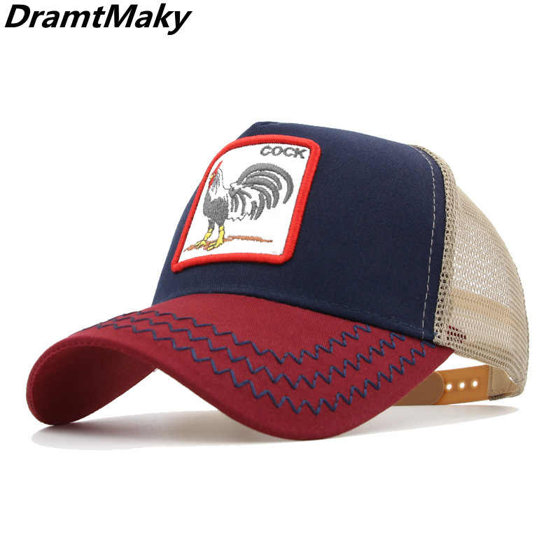 e722330886308 Many types embroidery animal Baseball Caps men mesh cap Snapback caps  Unisex sun hat for women