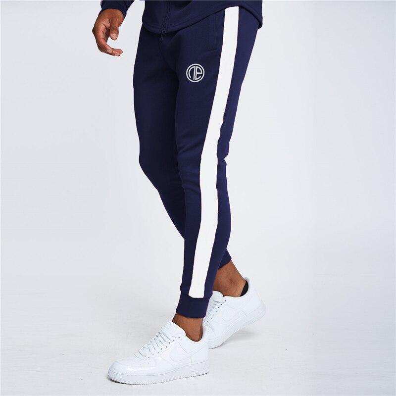 2019 Autumn Men Sweatpants Fashion Stitching Pants Casual Jogger Sportswear Men Workout Trousers Fitness TrackPants Men Pants