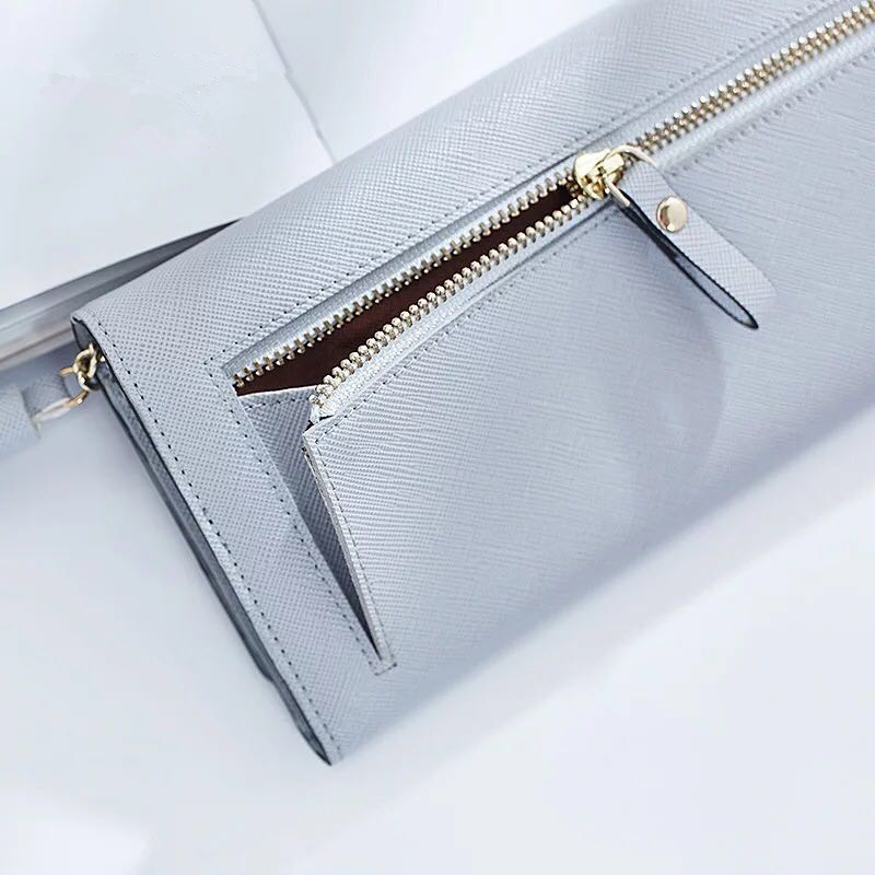 New female Long Clutch Wallet Women Tassel Pendant Money Wallets PU Leather Lady Zipper Coin Purse Fashion Card Holders Purses A in Wallets from Luggage Bags