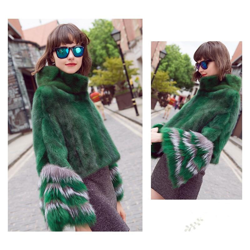 Fur Poncho Women Winter Natural Fur Coat Rex Rabbit Genuine Shawl Jacket Fox Seleeves New Arrival Factory Outlet  Sheepskin Coat