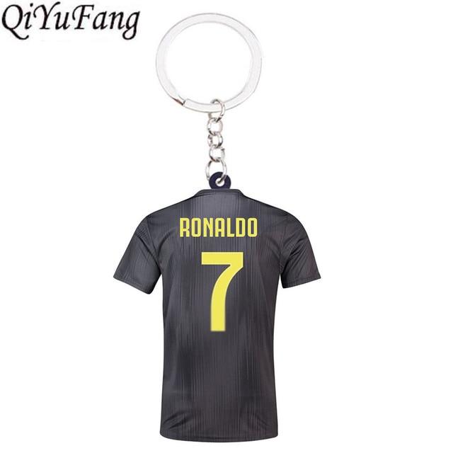 Qiyufang из смолы АБС, ручная работа, C. Рональдо свитера J брелок игрушка в подарок Для мужчин Футбол Для женщин Love с принтом «Soccer Star Месси, брелки для ключей, CR7 вентиляторы брелок-кольцо для сумки