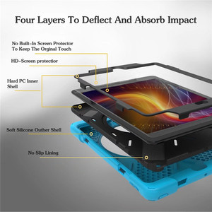 Image 4 - For iPad 2 / 3 / 4 Shockproof Kids Protector Case For iPad2/3/4 Heavy Duty Silicone Hard Cover kickstand design Hand brace