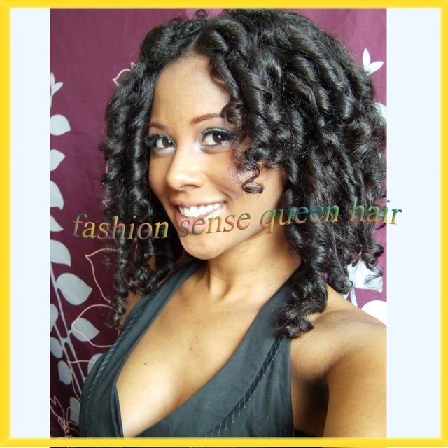 Sexy Romance Candy Curl Cheap Sew In Hair Bob U Part Wig Spring