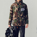 New arrival 2016 winter fashion camouflage letter embroidery coat men cotton padded jacket men's clothing size m-5xl /MF10