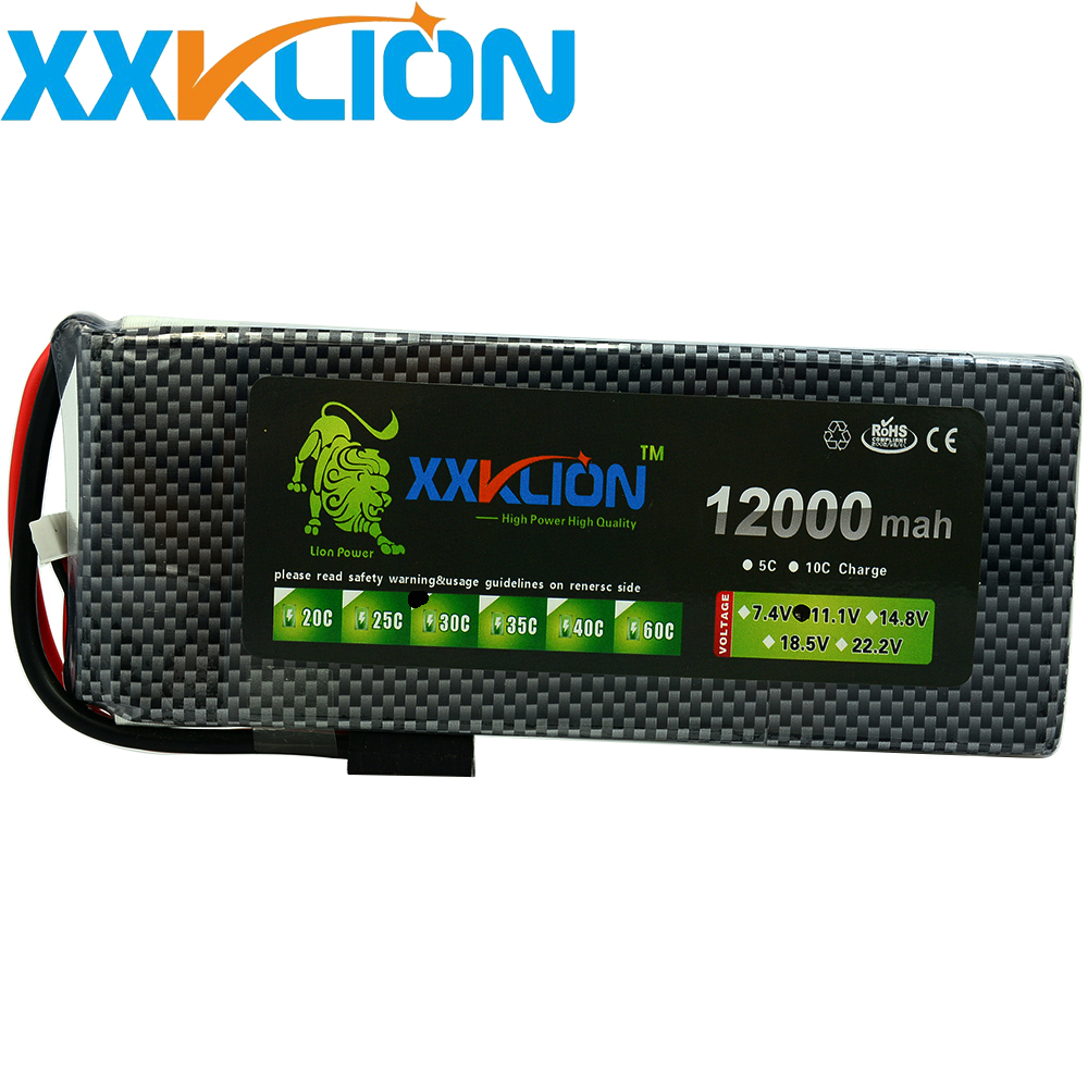 XXKLION drone <font><b>Lipo</b></font> battery pack 11.1v <font><b>12000mAh</b></font> 30C <font><b>3S</b></font> for rc airplane Aerial multi - axis unmanned aerial vehicle Free Shipping image