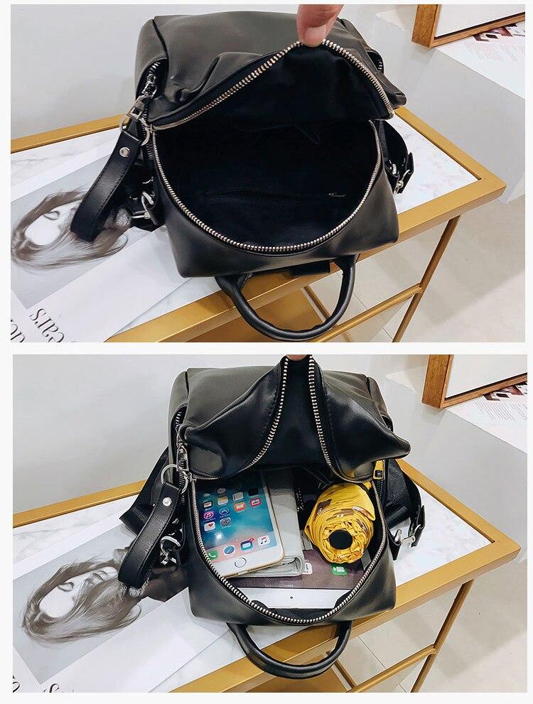 Multi-Function Solid Travel Shoulder Bag Backpack 2