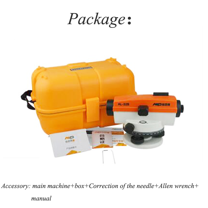 Automatic Levels Meter Outdoor Engineering Surveying & Mapping Leveling Instrument Mapping Ultra-flat Instrument AL-32Automatic Levels Meter Outdoor Engineering Surveying & Mapping Leveling Instrument Mapping Ultra-flat Instrument AL-32