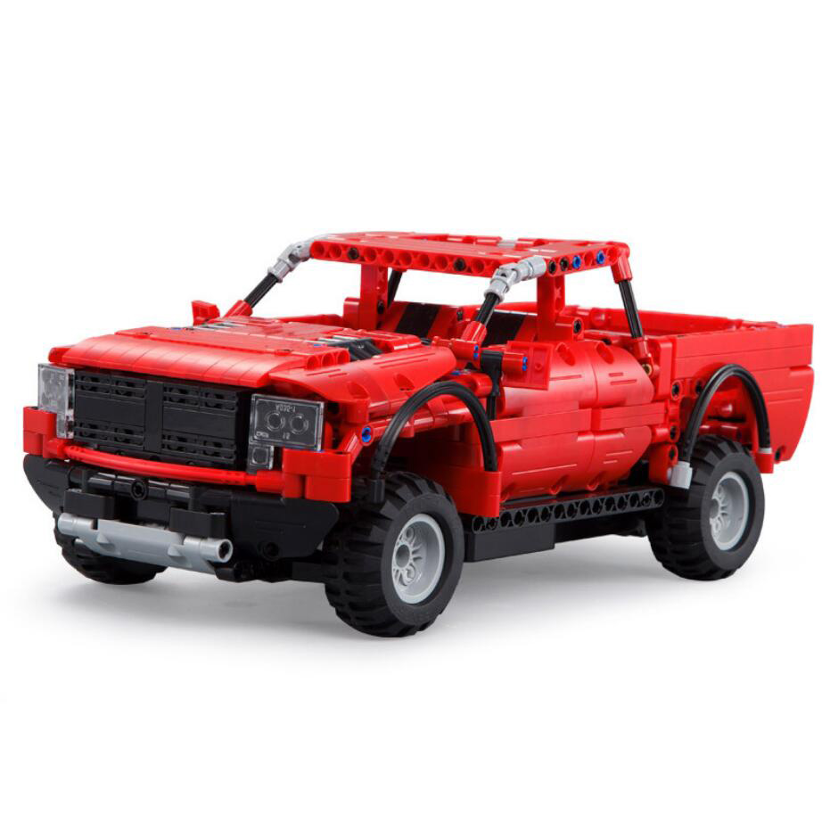 Hot vehicle ford f150 radio remote control pickup truck building block raptor car model bricks assemble rc toys collection in blocks from toys hobbies on