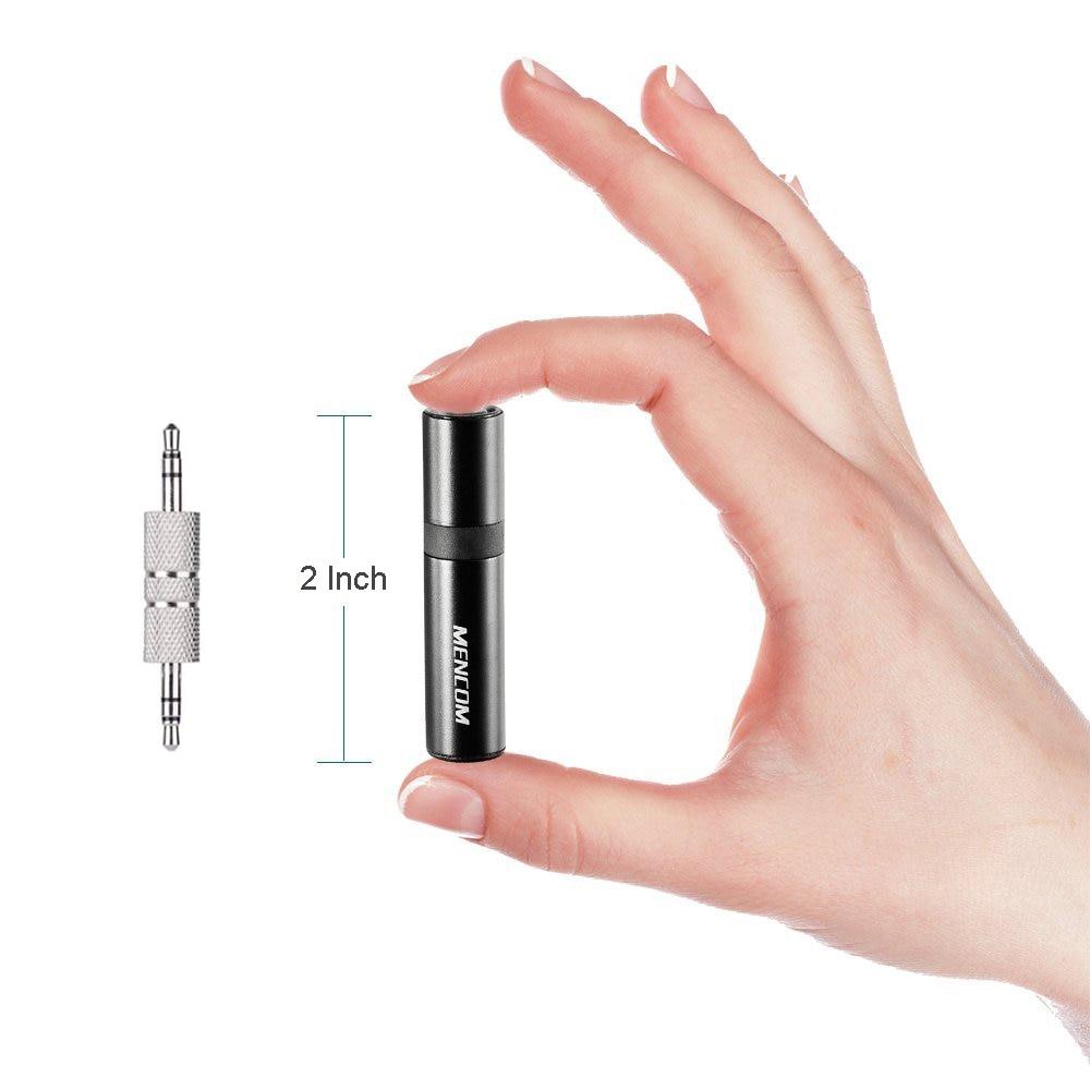 Mencom Bluetooth qəbuledicisi 3.5mm mini simsiz avtomobil dəsti əlləri pulsuz Jack Bluetooth qəbuledicisi mikrofon ilə Dinamik qulaqlıq üçün