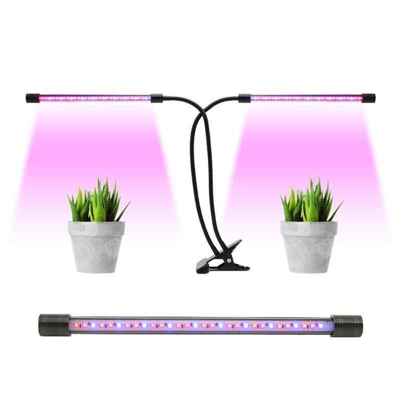 5 В USB регулируемая двойная головка завод светодиодные лампы для выращивания растений лампа с функцией синхронизации для комнатных цветочных растений прорастание выращивание 10166