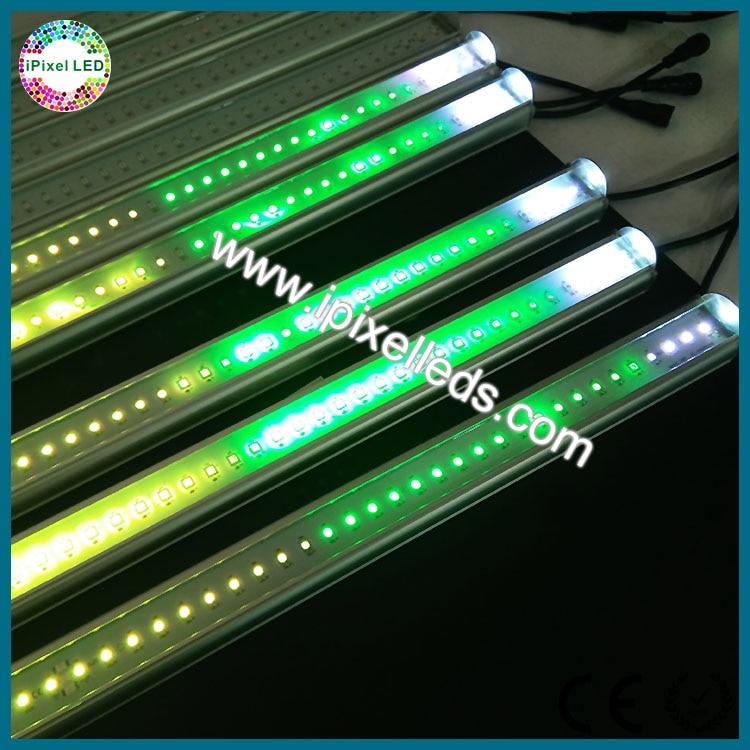 Dc5v 60 pixels/M smd 5050 garde-corps en aluminium LED tube rgb 120 pixels/2 M