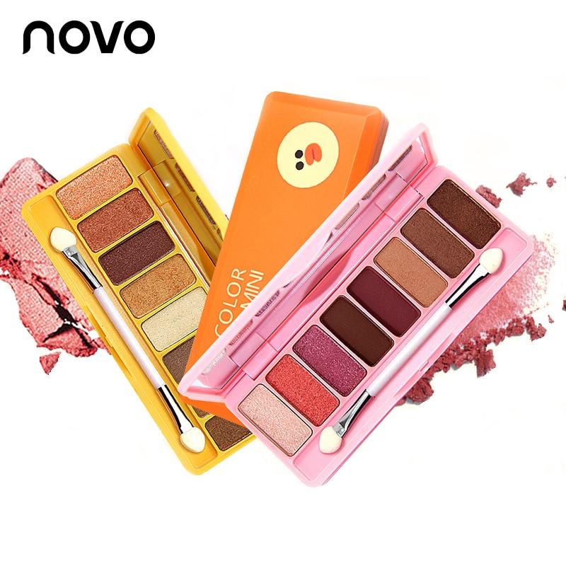 Novo paleta de sombra de olho nua, 8 cores naturais, desenho animado, cintilante, fosco, maquiagem profissional, básica, nude