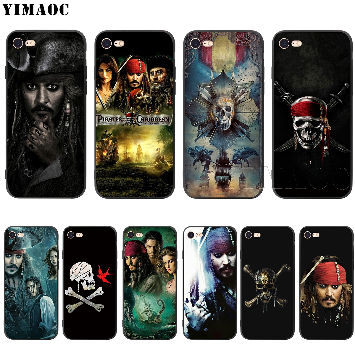 YIMAOC Pirates Of The Caribbean Silicone Soft Case for iPhone 5 5S SE 6 6S 7 8 Plus X