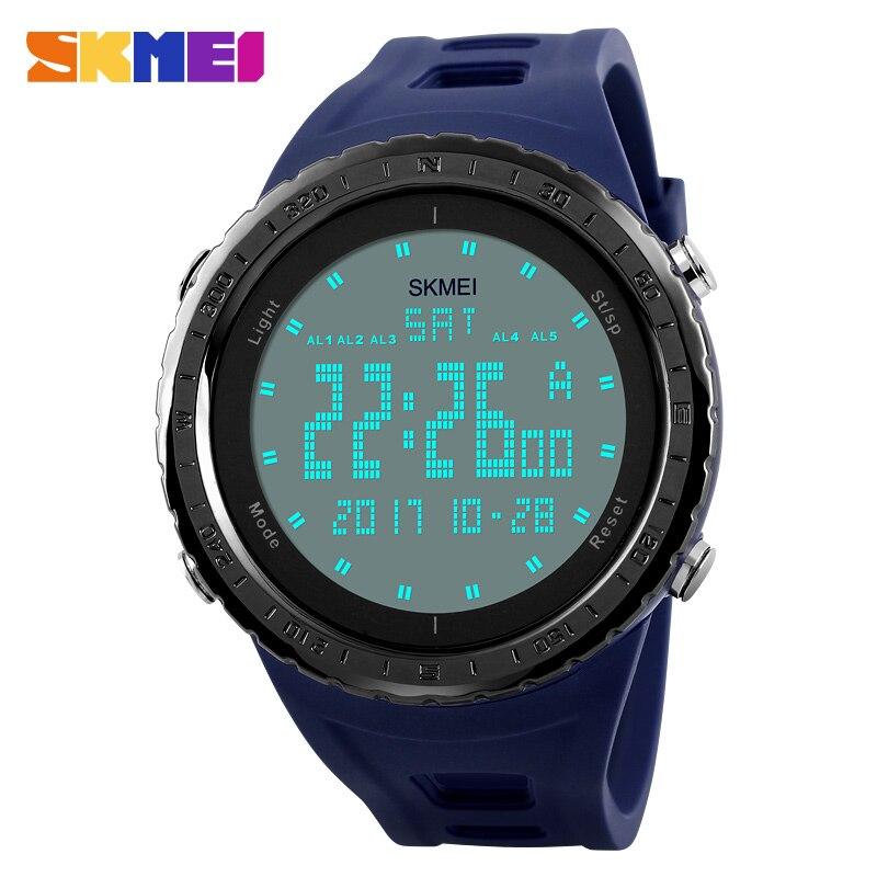 Militar SKMEI relojes de los hombres de moda del deporte del reloj de LED Digital 50 m natación impermeable reloj deportes al aire libre reloj 1246