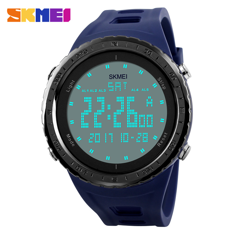 цены SKMEI Military Watches Men Fashion Sport Watch Top Brand LED Digital 50M Waterproof Swim Clock Sports Outdoor Wrist watch 1246