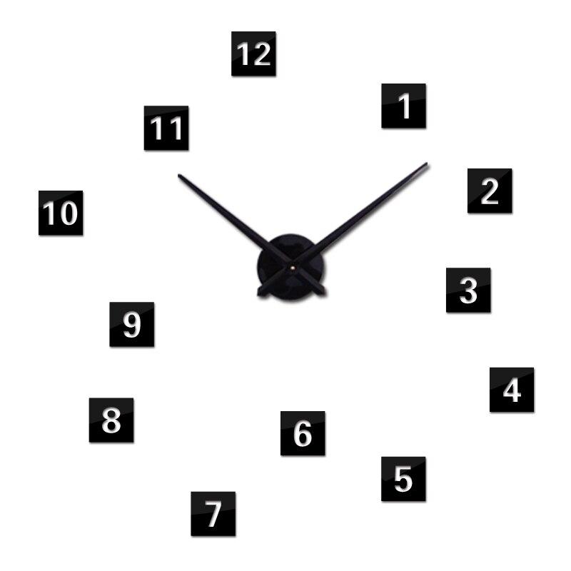 Nový 2019 nástěnné hodiny krátké de pared křemene hodinky evropa horloge domácí obývací pokoj 3d akrylové zrcadlo vintage hodiny