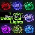 Set Auto Automobiles 7Color Under LED Car Glow Underbody System Neon Light External Light Warning Light Source Kit DRL Xenon