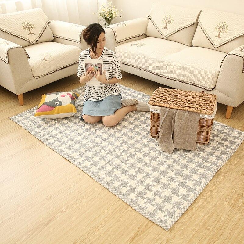 120*170 cm mélange Simple coton tapis salon/chambre/Table à thé/balcon/canapé tapis de sol tapis lavables