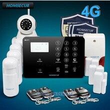 Homsecur беспроводный и проводной 4 г/GSM охранной сигнализации системы + беспроводной IP камера