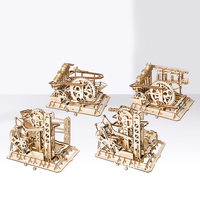 Educational Wooden Toys Creative DIY Laser Cutting 3D Mechanical Model Wooden Puzzle Game Assembly Toy Puzzle Gift for Children