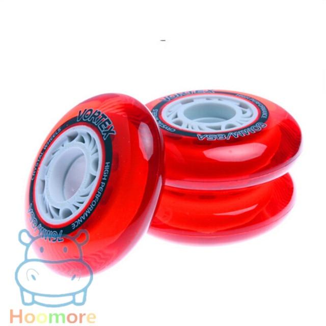 85A Crystal Transparent Skating Wheel for FSK Slalom High Performance Red Blue 80mm 76mm 72mm Wheel