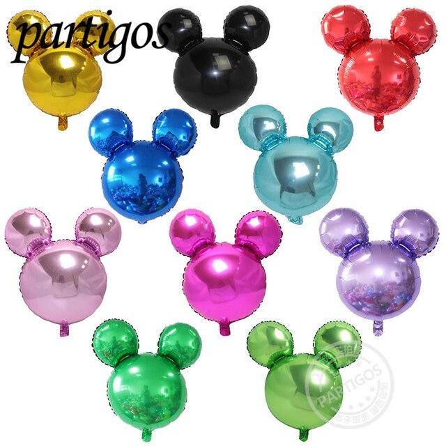 20 Pcs Lot 63 57 Cm Couleur Rouge Mickey Minnie Mouse Ballons De