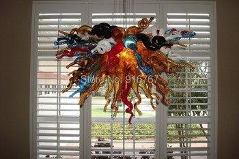 شحن مجاني ul/ce 110 فولت/220 فولت أدى لمبة مورانو فن الزجاج الثريا ل غرفة الطعام