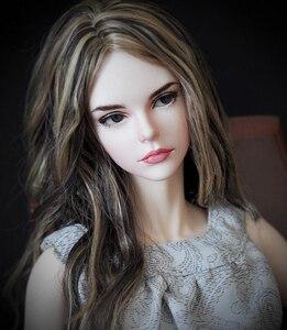 Image 3 - HeHeBJD 1/3 güzel kız Vera ücretsiz gözler reçine modeli yüksek kaliteli oyuncaklar