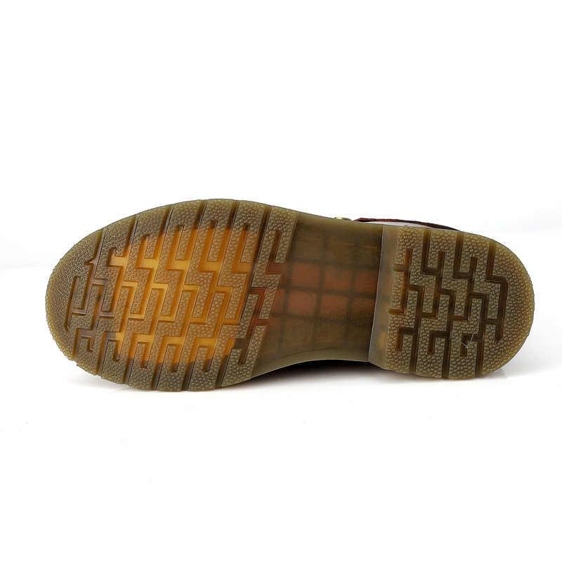 Erkek Botları Kış Sıcak Kürk Martin Çizmeler Artı Boyutu 47 Hakiki Deri Ayak Bileği Kar Botları erkek ayakkabısı Kaymaz Yüksek en Botas Hombre