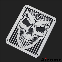 Motorcycle Radiator Protector Cover Guard For Kawasaki VN800 Vulcan Drifter 1995 2006 Skull Radiator Grill