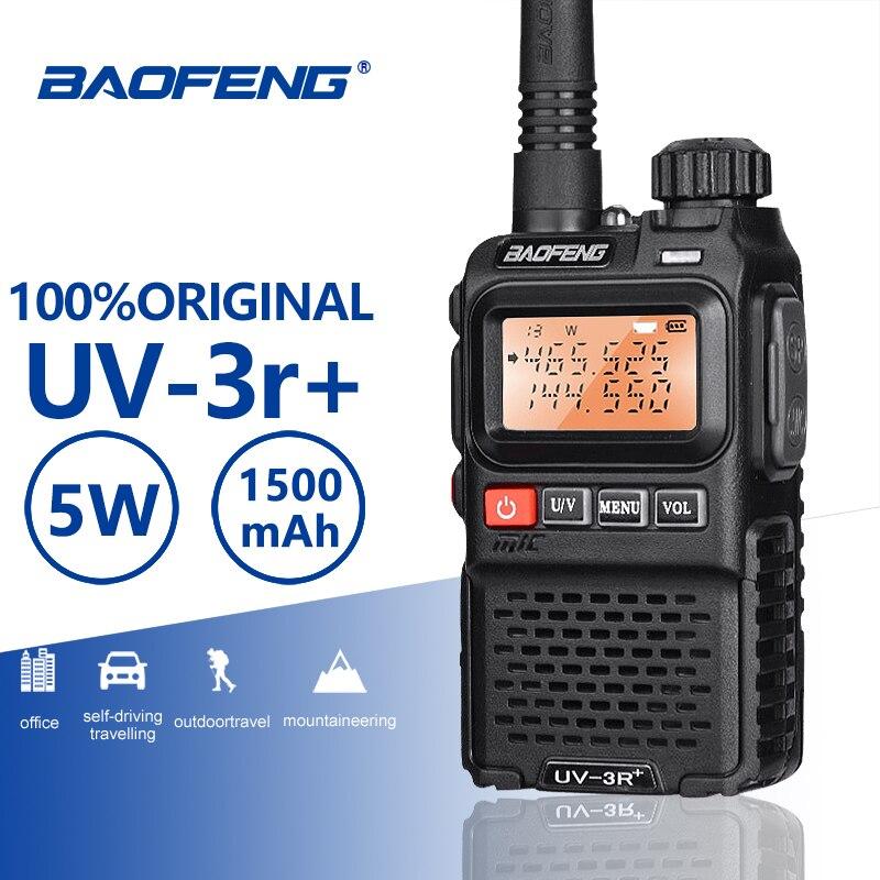 Baofeng мини-рация, карманный УКВ UHF двухсторонний радиосканер, высокочастотный приемопередатчик, любительская радиостанция