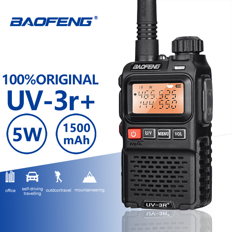 Baofeng UV-3R+ High Quality Mini Walkie Talkie Handheld VHF UHF Two Way Radio Scanner Hf Transceiver Ham Radio Station Ecouteur