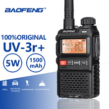 Buy Baofeng UV-3R+ High Quality Mini Walkie Talkie Handheld VHF UHF Two Way Radio Scanner Hf Transceiver Ham Radio Station Ecouteur directly from merchant!