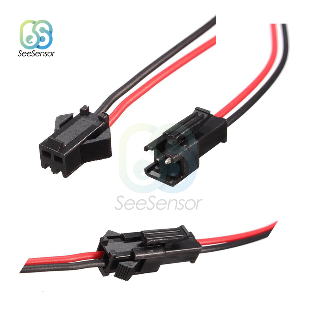 5Pairs 10cm 15cm 30cm Long JST SM 2Pins 2P Plug Male To Female Wire Connector LED Connectors