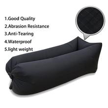 High Quality Inflatable Sofa Hangout Camping Lazy Bag Waterproof Air Bed Lounger Hammock Laybag Square Sleeping Bag цена 2017