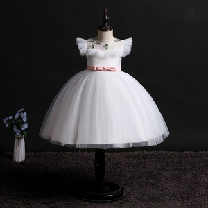 Image 4 - 2019 New Children Birthday Tutu Dress For baby Girls Kids Princess Party Clothes Wedding Holiday Wear Ceremony Evening Dress