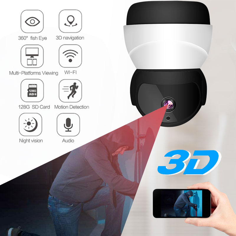 2.0MP HD 1080P Wifi Camera VR HD 360 degrees Camera Wireless Camera Infrared night vision Motion Detection Home Security2.0MP HD 1080P Wifi Camera VR HD 360 degrees Camera Wireless Camera Infrared night vision Motion Detection Home Security