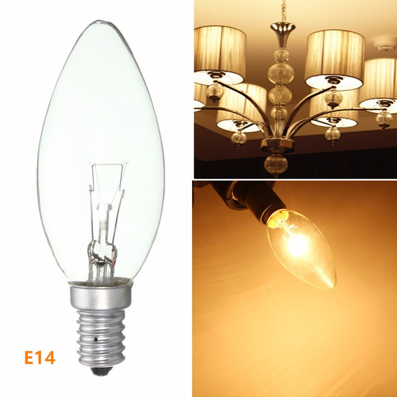 New Incandescent Lamp Filament Bulb E14 25W/40W/60W Refrigerator Fridge Candle Light Energy Saving Lamp Warm White AC220-230V