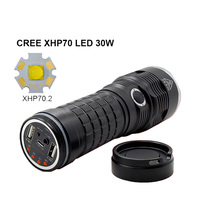 NEW LED flashlight CREE XHP70 Highlighted 3800Lumens Torch USB Rechargeable Multi Function LED Tactical Flashlight
