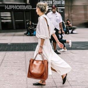 Image 5 - HJPHOEBAG womens bag designer fashion pu leather large size ladies Messenger bag high quality large capacity shoulder bag YC023