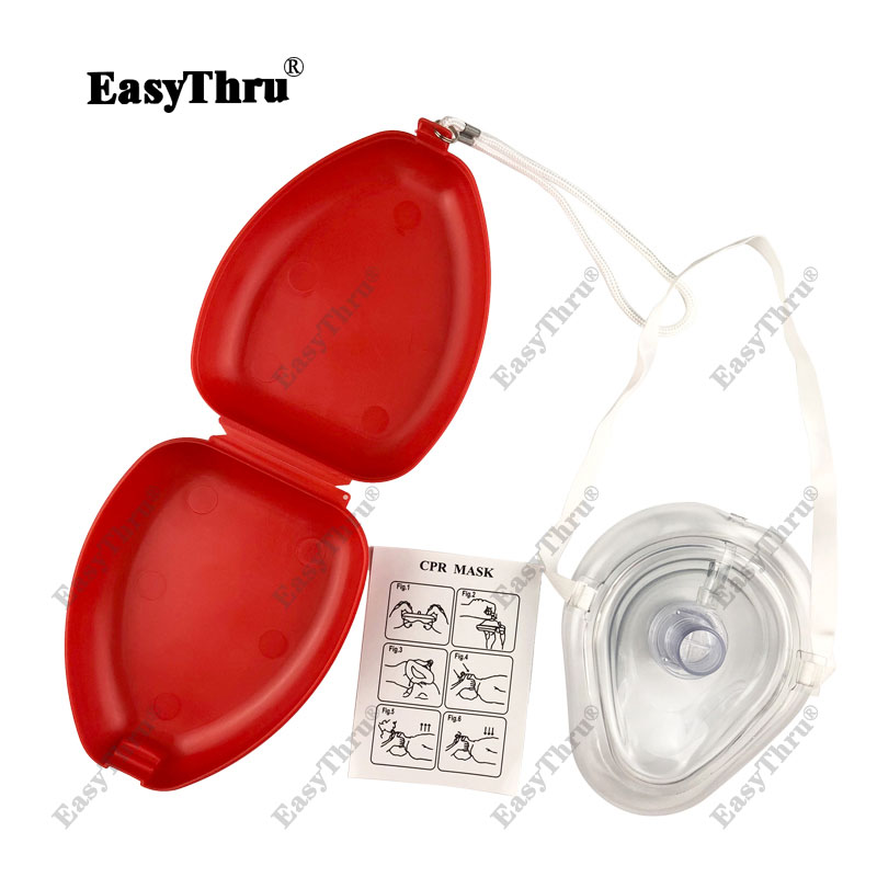 Professional CPR First Aid Breathing Mask With One-way Valve Reuseable Medical Face Mask Medical Emergency Training