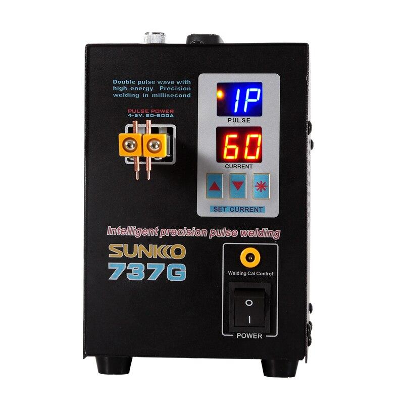 SUNKKO 737G 1.5kw Local Bateria soldador Máquina de Solda a Ponto do DIODO EMISSOR de luz para 18650 pulso de precisão do ponto de solda bateria soldadores