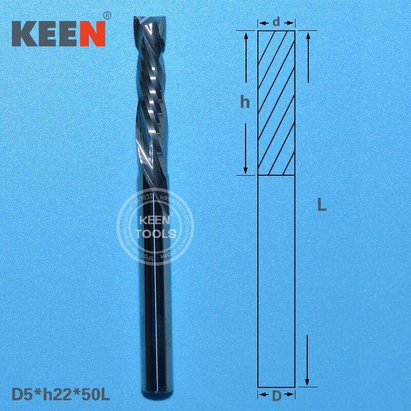 Up Down Cut 5 22mm Two Flutes Carbide Endmill CNC Router Cutter Bit CNC Milling Cutter