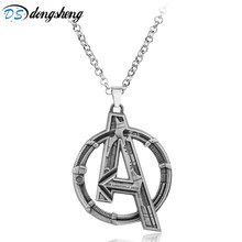 dongsheng Movie Jewelry Marvel's The Avengers Logo Superhero Marvel Necklace Men Charms Necklace Men Gift -30(China)